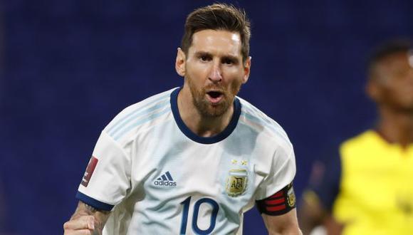 Lionel Messi llegó a Argentina junto a Di María y Leandro Paredes. (Foto: AFP)