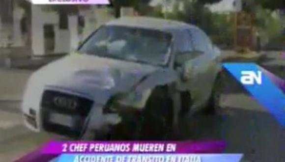 Dos peruanos mueren tras fuerte choque en Italia