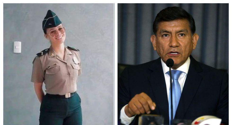 Ministro Morán indicó que el caso de Jossmery Toledo, quien publicó un video en redes sociales vistiendo el uniforme policial, está siendo visto en el ámbito administrativo disciplinario. (Fotos: Instagram/Andina)