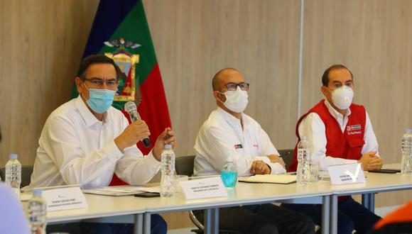 """""""El señor presidente y el señor premier me han solicitado seguir apoyando la lucha contra la epidemia"""", señaló Víctor Zamora. (Foto: Presidencia Perú)"""