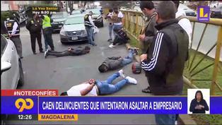 Magdalena: Capturan a malhechores que intentaron asaltar a empresario