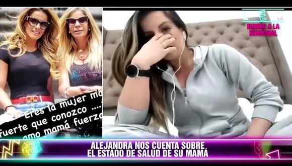 Alejandra Baigorria llora por su mamá que será sometida a delicada operación