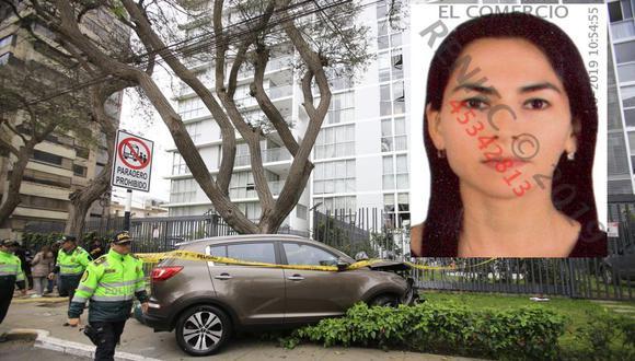 Melisa González Gagliuffi  fue detenida tras el atropello en la avenida Javier Prado. (Jessica Vicente / GEC)