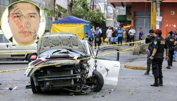El vehículo en el que el suboficial intentó huir quedó destrozado.   FOTOS: CESAR BUENO
