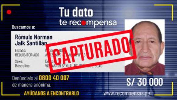Rómulo Norman fue detenido en la ciudad de Rioja. (Imagen: Mininter)