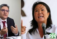 Domingo Pérez pide al PJ que rechace pedido de Keiko para que audiencia de prisión preventiva sea presencial