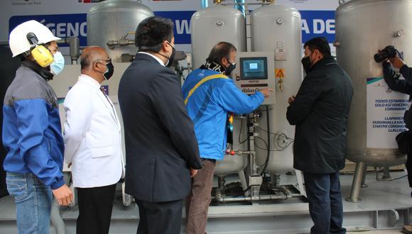 Esta moderna planta de oxígeno, con componentes de Bélgica y Suiza, puede producir hasta 696 metros cúbicos de oxígeno al día. (Foto: Hospital Departamental de Huancavelica)