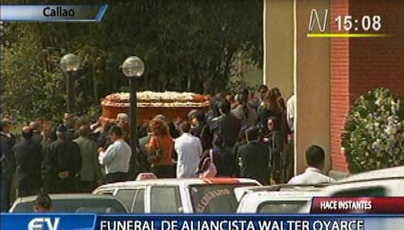 Trasladan restos de Walter Oyarce al Parque del Recuerdo de Lurín