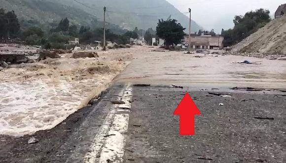 Carretera Central: río Rímac se desborda y deja este terrible panorama en Huarochirí (VIDEO)
