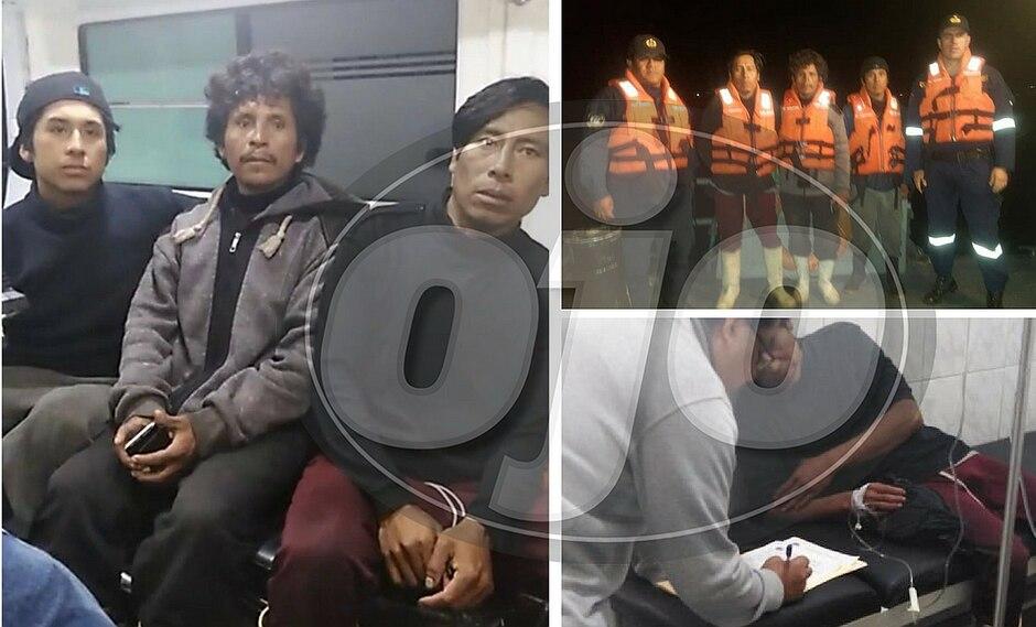 Rescatan a pescadores que naufragaron por 40 días en Piura