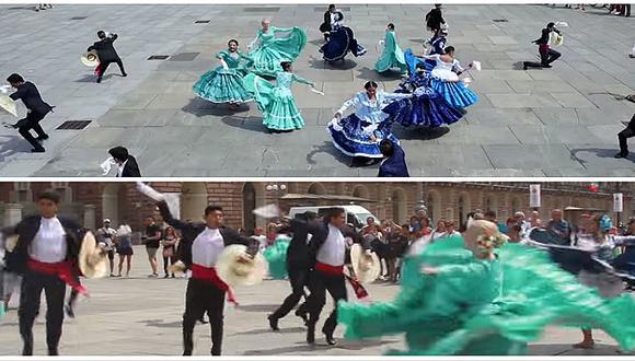Fiestas Patrias: flashmob de marinera en Italia es la sensación (VIDEO)
