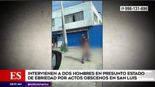 Detienen a dos sujetos por realizar actos obscenos en la vía pública en San Luis