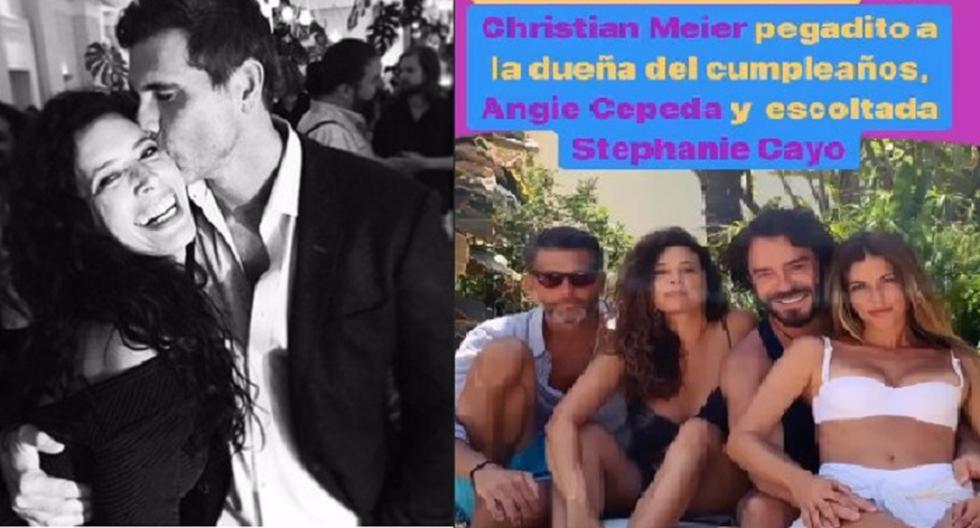 Y El Distanciamiento Social Por El Covid 19 Christian Meier Se Reencuentra Con Angie Cepeda En Su Cumpleaños Web Ojo Farandula Ojo Show Ojo