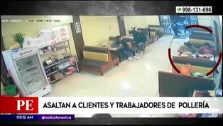 Pareja no dejó de comer su rico pollo a la brasa durante asalto armado en San Martín de Porres