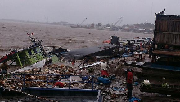 Ucayali: Vientos huracanados dañan viviendas y hunden embarcaciones [VIDEOS]