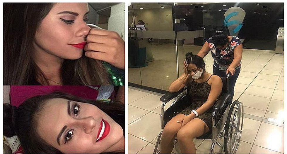 El rostro de Thamara Gómez de Puro Sentimiento tras 'hachazo' (VIDEO)