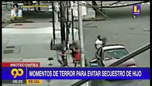 Madre salva a su hijo de un intento de secuestro en Estados Unidos (VIDEO)