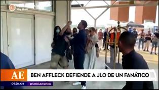 Ben Affleck defiende a Jennifer López apartando a un fanático entusiasta