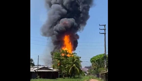 Hasta el momento no se han reportado daños personales. (Foto: Agencia de Noticias Pucallpa)