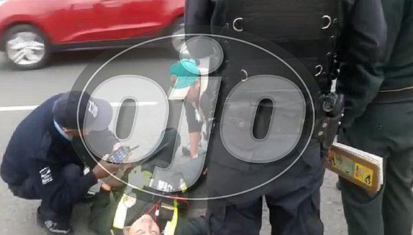 San Borja: policía mujer que fue atropellada por taxista será dada de alta este miércoles (VIDEO)