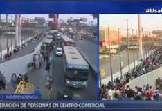 Independencia: Reportan largas colas para ingresar al centro comercial Megaplaza | VIDEO