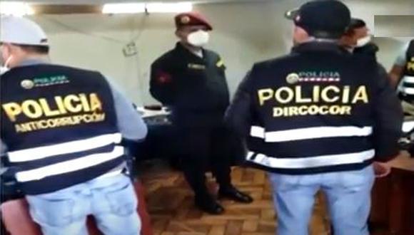 El día de la intervención a los policías que han sido sentenciados. (Captura video PNP)