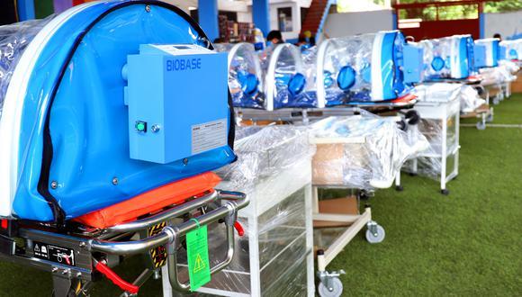 Estos equipos médicos valorizados en 1 millón 346 mil 355 soles servirán para atender a los pacientes intermedios contagiados por el COVID-19 (Foto: Gore Apurímac)