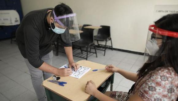 Los mismos protocolos de bioseguridad por la pandemia de COVID-19 se seguirían en la segunda vuelta electoral. (Foto: Anthony Niño de Guzmán / GEC)
