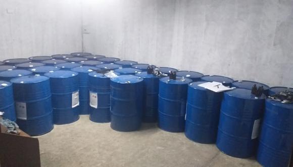 Gran cantidad de insumos químicos incautaron agentes de la DIRANDRO