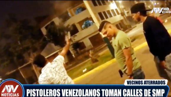 Los sujetos lanzaron disparos al aire en una calle de la urbanización Palao. (ATV)