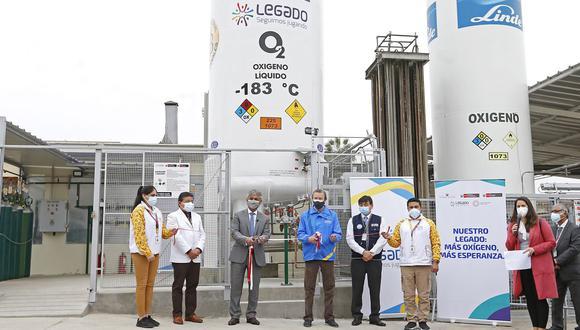 El director ejecutivo del Proyecto Legado, Alberto Valenzuela, indicó que el tanque de más de 10 toneladas de almacenamiento de oxígeno va a servir para poder afrontar de manera excepcional cualquier eventualidad o tercera ola del COVID-19. (Foto: Proyecto Legado)