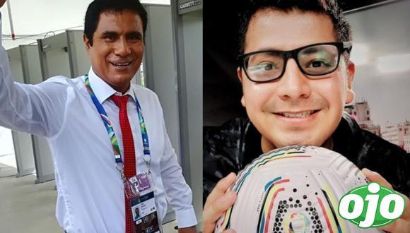 Jehofred Sulca dedicó mensaje a Toño Vargas antes del Perú vs. Brasil. (Foto: @steves_jorge/@gargantadelgol.oficial).