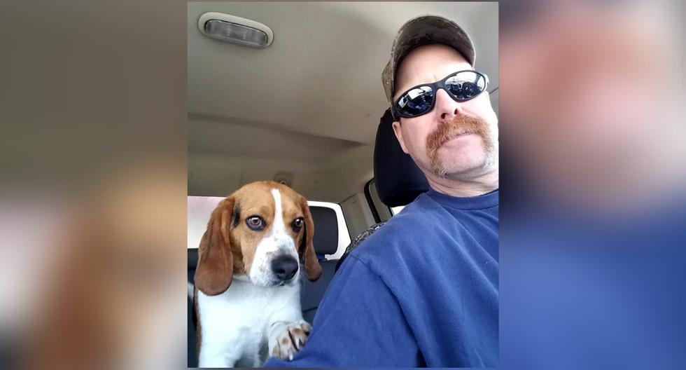 'Gregory' ahora vive feliz con sus nuevos dueños, que se dedican a encontrar perros abandonados a punto de ser sacrificados para buscarles un nuevo hogar. (Foto: Schenley Hutson Kirk en Facebook)