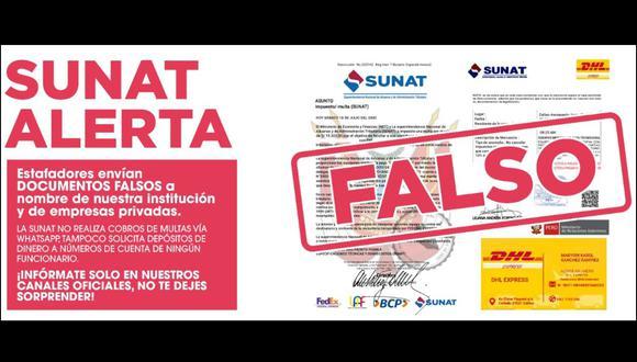 La Sunat exhorta a los contribuyentes a informarse a través de sus canales oficiales. (Captura de Internet)