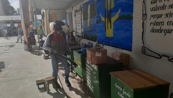 INPE desinfecta y fumiga todos los ambientes del penal de Tarapoto (Foto: INPE)
