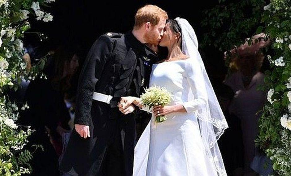 El príncipe Harry y la actriz Meghan Markle ya son marido y mujer (FOTOS)