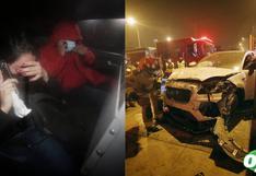 Surquillo: jovencitas agarran camioneta de su amigo, la chocan y se dan a la fuga