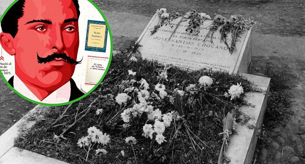 """José Santos Chocano, """"El Cantor de América"""" que fue enterrado de pie en el Presbítero Maestro"""