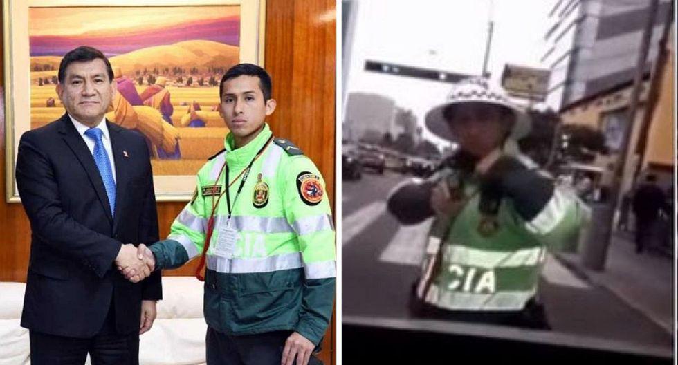 Ministro del Interior respalda a joven policía que apuntó a conductor que se resistió a intervención | VÍDEO