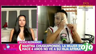 """Martha Chuquipiondo, 'la mujer boa', rompe en llanto al reencontrarse con su hija Áfrika: """"Estoy orgullosa de ti"""""""