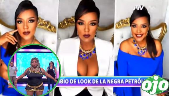 El cambio de look de la 'Negra' Petróleo. Foto: (Captura/ATV   rede sociales).