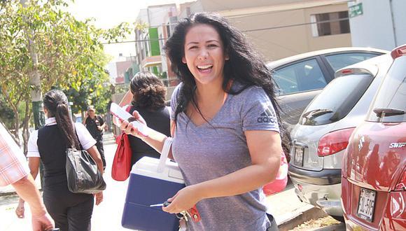 Magdyel Ugaz se luce feliz y dice que irá a votar en la segunda vuelta