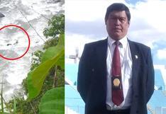 Policía muere al despistar su vehículo hacia un río en Cusco