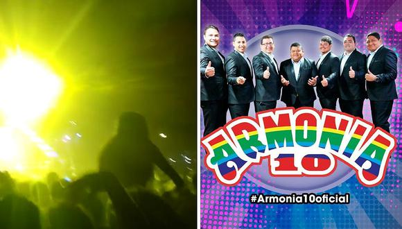 """Armonía 10 se presenta en concierto de rock y la """"rompe"""" (VIDEO)"""