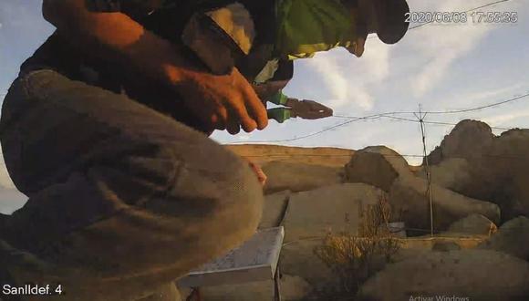 Las cámaras de videovigilancia instaladas en el lugar captaron a los autores del robo. (Foto: Captura de video)