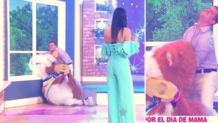 """Cuy sufre aparatoso accidente durante programa 'En Boca de Todos': """"¡la cabeza se atoró!"""", gritó Tula Rodríguez"""