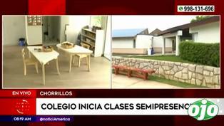 Chorrillos: colegio inició clases semipresenciales este miércoles | VIDEO