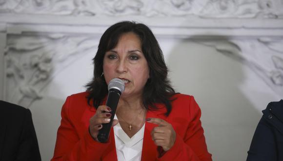 La ministra Boluarte participó del Gore Ejecutivo en Loreto este jueves. (Foto: El Comercio)