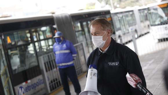 Alcalde de Lima advierte que si no se incrementa subsidio el Metropolitano podría dejar de operar. (Foto: Diana Marcelo/GEC)