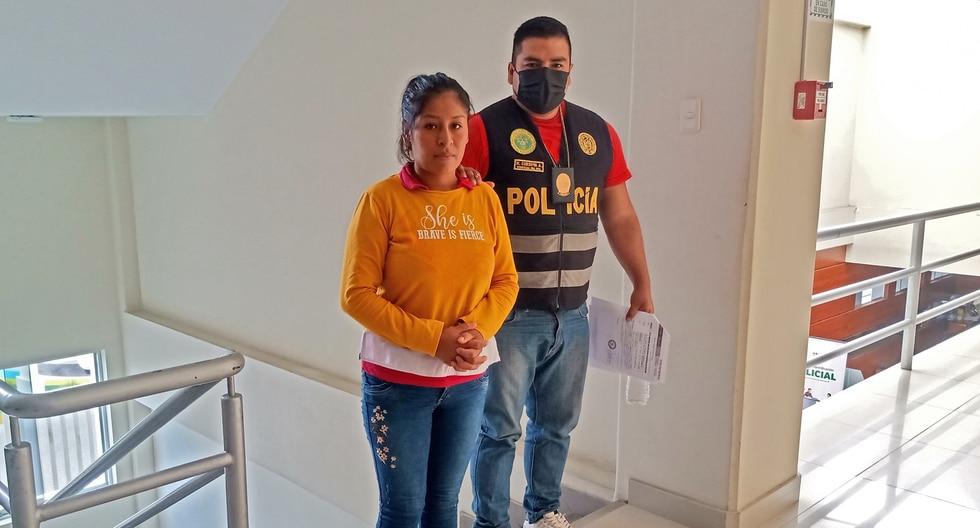 La agresora, Karina Benigno, se acogió a la terminación anticipada del proceso. (Foto: Poder Judicial)